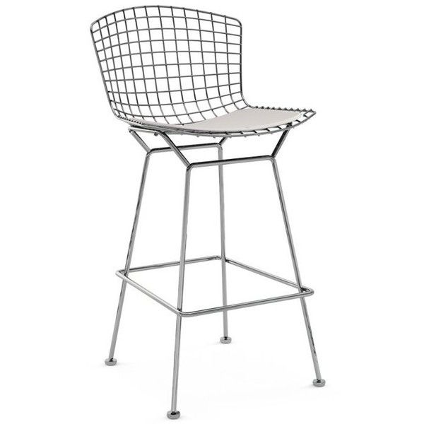 Superb Knoll Bertoia Barstool With Seat Pad Dwell Liked On Caraccident5 Cool Chair Designs And Ideas Caraccident5Info