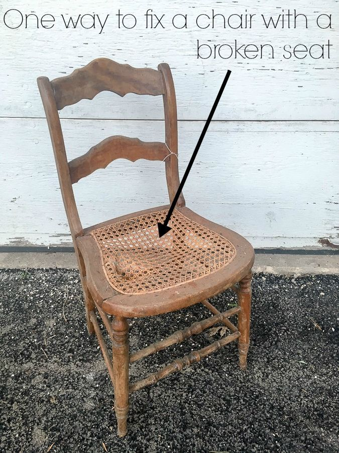One Way To Fix A Chair With A Broken Seat Refresh Living Dining Chairs Diy Rocking Chair Makeover Chairs Repurposed