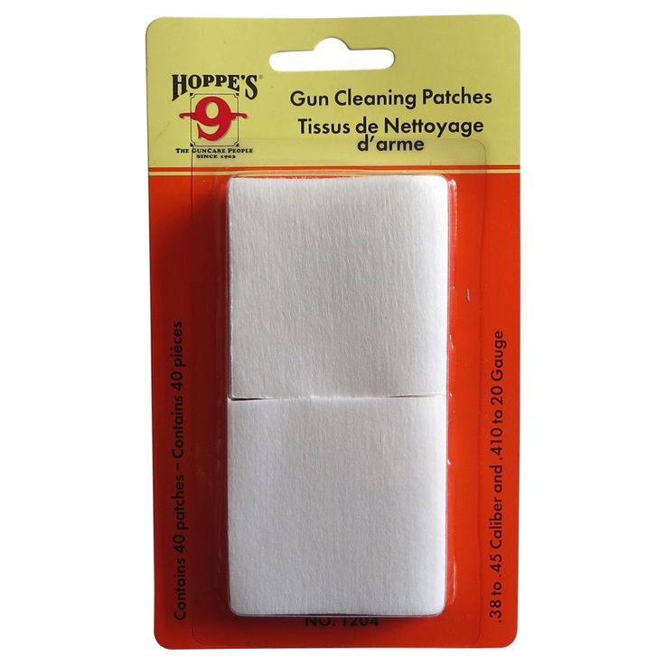 Hoppe's Cleaning Patches - .38 to .45 Calibre - 40 Pack - David Bailey Shooting Supplies $2.50