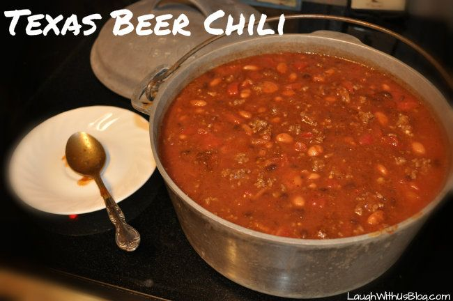 Pot of Texas Beer Chili.....well that can't be bad right?