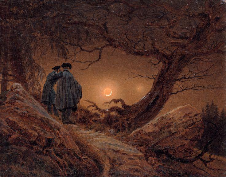 """Каспар Давид Фридрих. """"Двое, созерцающие луну"""". 1819- 1820"""