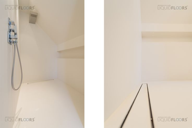 This stylish residence got completely stripped, renovated and has been given a nice smooth Spring White colored coating, covering floors and walls in the shower and toilet. #gietvloer #design #interior #interiordesign #gietvloeren #interiorstyling #renovating #renovatie #verbouwen #binnenhuisarchitectuur #architecture #interieur #interieurstyling #vloeren #floors #parket #epoxy #betonvloer #kunsthars #badkamer #bathroom #shower