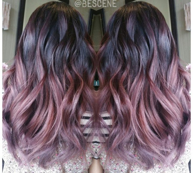 Metallic Rose Gold Hair Color
