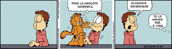 Garfield en Español (Spanish) Comic Strip, December 30, 2013 on GoComics.com