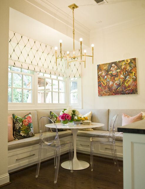 Eat in kitchen nook, lots to love here. Beckley Design Studio. -via Interior Canvas