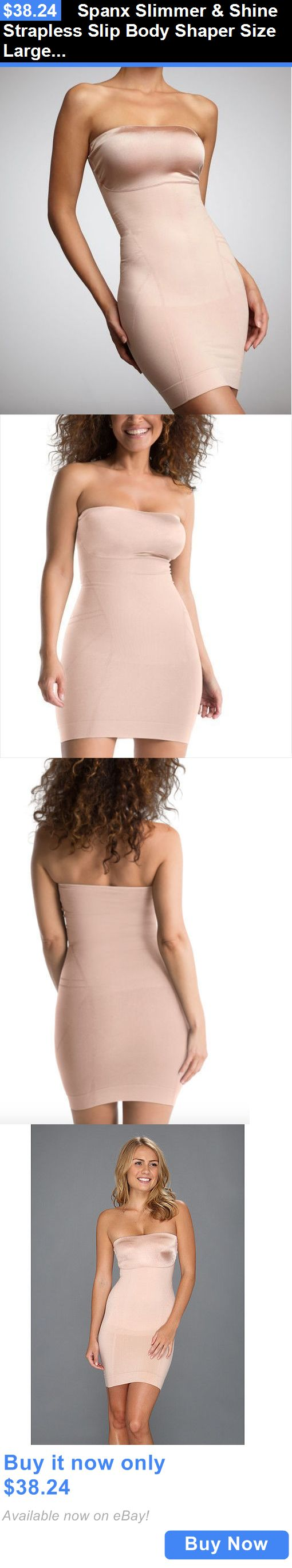 Women Shapewear: Spanx Slimmer And Shine Strapless Slip Body Shaper Size Large 1059 New Rose Gold BUY IT NOW ONLY: $38.24