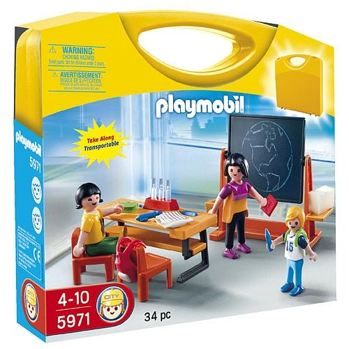 playmobil school carrying case 5971 playmobil toys. Black Bedroom Furniture Sets. Home Design Ideas