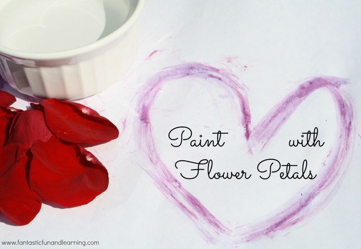 Paint with Flower Petals...let kids experiment to see what happens when you use water and flower petals to make marks on paper