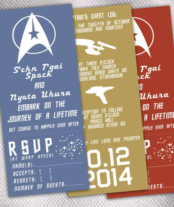 SAMPLE Star Trek Original Series Wedding Invitation by AprilSanson, $2.65