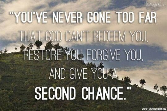 Quotes About Second Chance: Don't Be So Quick To Judge...forgive..and Give Someone A