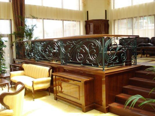 Wrought iron railing - Art Nouveau