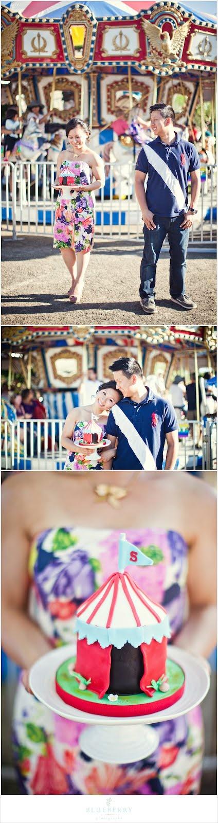 Marin County Fair engagement photos. So much fun!