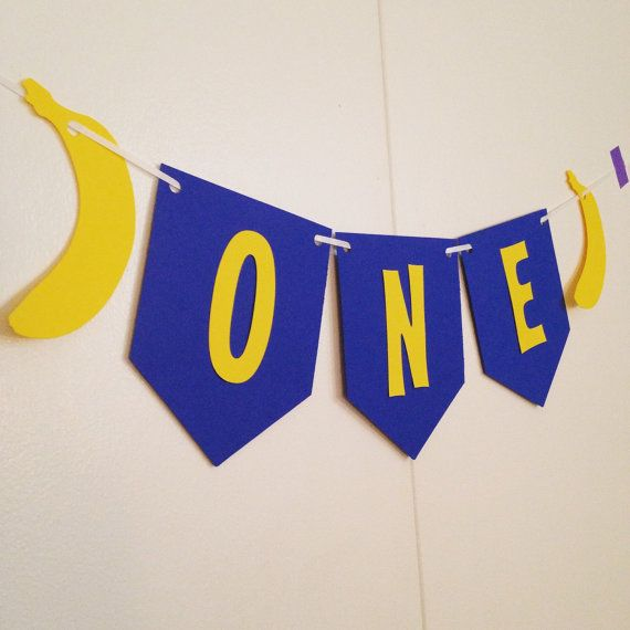 Saying: One Size: 4 x 5 inch Letters: White Banan: Yellow Background: Azure String: White Ribbon  ❥For Payment with Visa, MasterCard, Maestro,