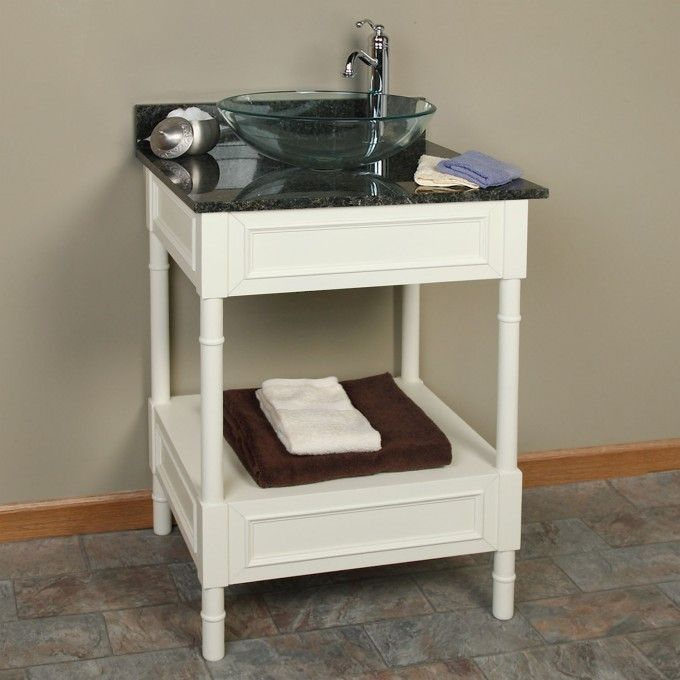 Photo Album For Website  Avis Creamy White Vessel Sink Console Vanity Bathroom Vanities Bathroom