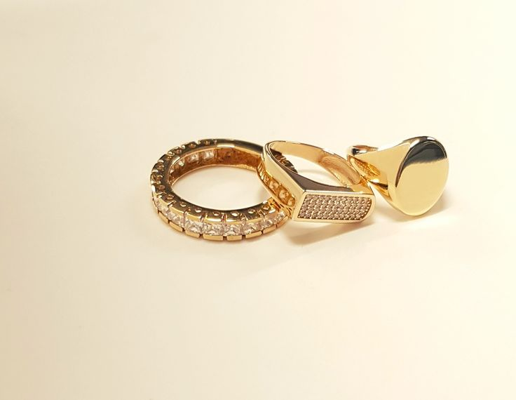 bold statement rings  #gold #fashion #rings #goldenselection #Κοσμήματα #δαχτυλιδι #style