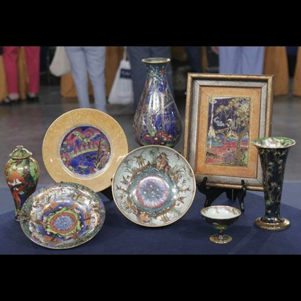 "A collection of Fairyland Lustre, appraised on PBS's ""Antiques Roadshow"""
