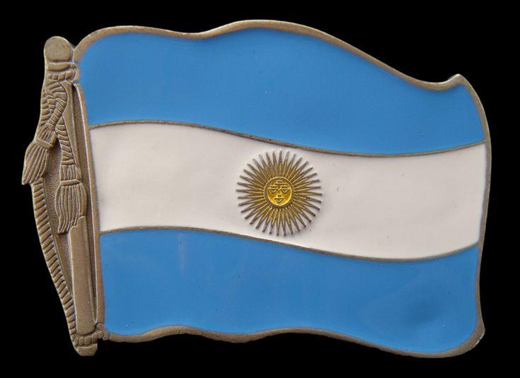 ARGENTINA BUENOS AIRES BANDERA FLAG HEBILLA BELT BUCKLE