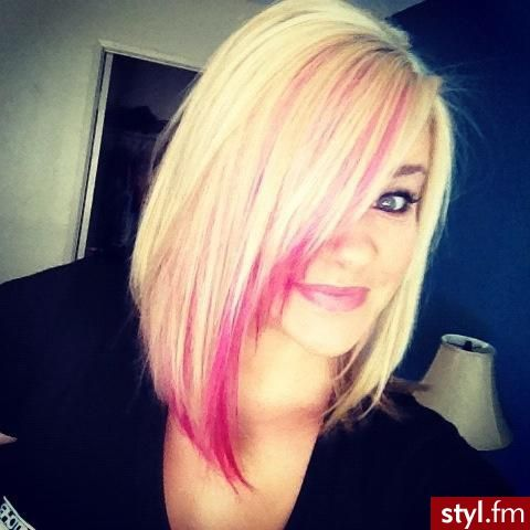 LOVE this look!! Don't want to keep it? Use TINT chalk for the day and wash it out! :) Love the pink!!!