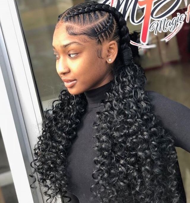 Cute And Currly Weave Hairstyles Braided Girls Hairstyles Braids Braided Hairstyles