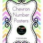 Chevron Number Posters Each poster has the numeral, number word, and a ten frame representation for each number 1 - 10. Thank you, Andra Reilly...