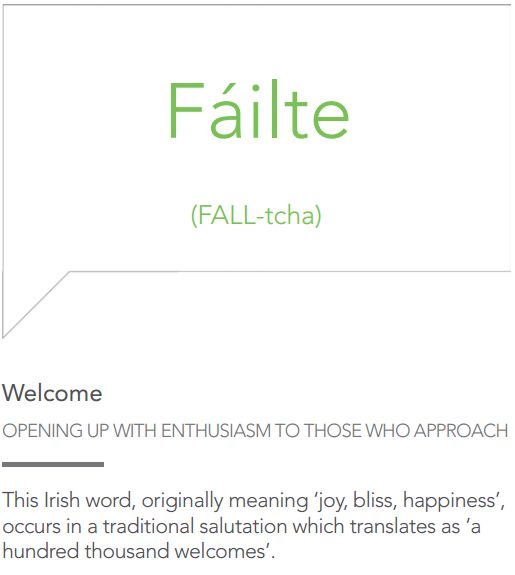 The most beautiful words in the Irish language.