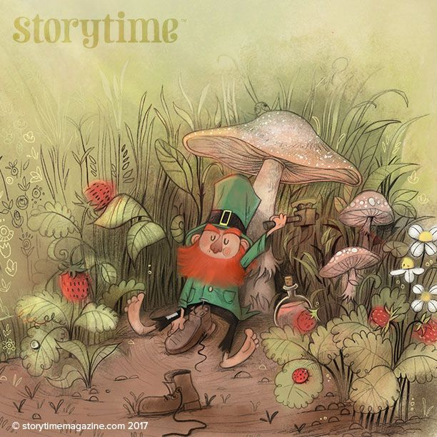 A cheeky leprechaun wishes you all the luck of the Irish in Storytime Issue 31! Art by Daby Ihsan (https://www.behance.net/daby_ihsan) ~ STORYTIMEMAGAZINE.COM