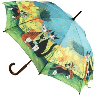 All Together by Rosina Wachmeister Art Print Walking Length Umbrella - Brolliesgalore