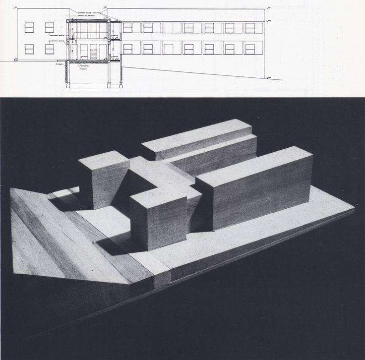 74-miglianico-chieti-maison-pour-quatre-freres-1978-coupe-en-long-et-vue-de-la-maquette-de-volumes.jpg (1144×1130)