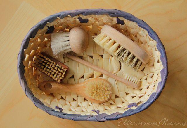 Einige Materialien und Körbchenideen für Kleinkinder (0-3)