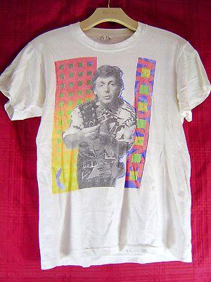 1989-90 Paul McCartney World Concert Tour T-Shirt Beatles Size L Vintage
