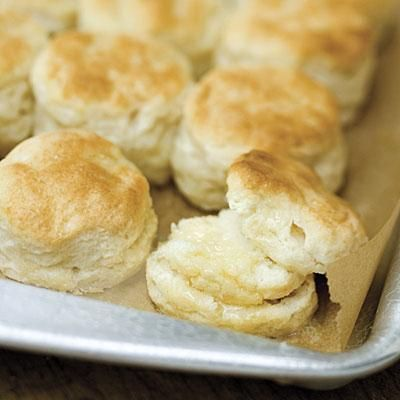 Buttermilk Biscuits | No Southern breakfast is complete without flaky, buttery biscuits. | SouthernLiving.com
