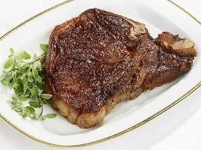 Pan seared t bone steak via Foodnetwork.com