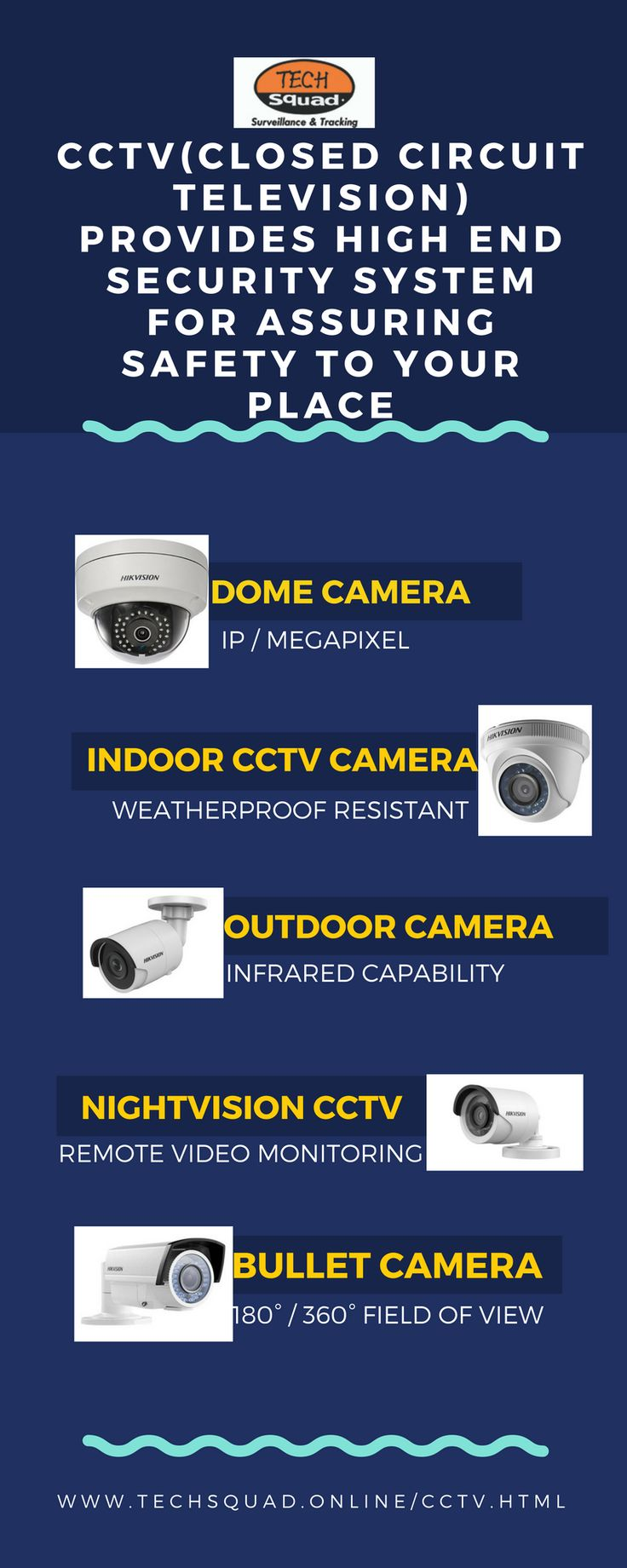 Techsquad delivers the advanced level of security CCTV Camera for homes, schools, offices and industries. It consists of high-resolution cameras with Noise reduction technology for better surveillance. If you need to buy a CCTV surveillance camera, visit our site-http://www.techsquad.online/cctv.html Phone:+91 (422) 2561010 Address:43B, V N Industrial Area, West Bharathi Colony, Peelamedu, Coimbatore – 641004, Tamil Nadu, India. Email:info@ameritore.com