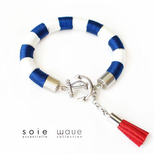 Wave karperec - kék/fehér/ezüst
