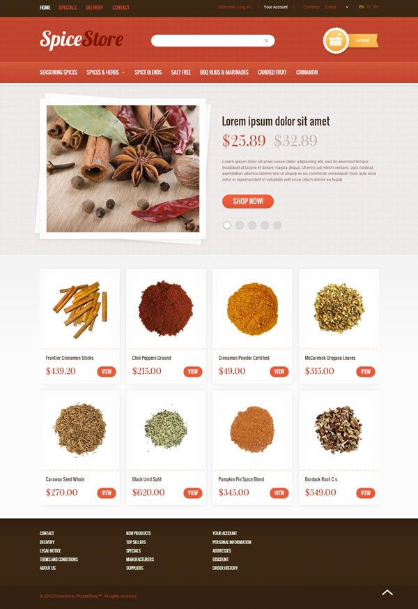 Prestashop template #food #organic #ecommerce