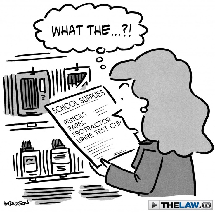 Court Toons: Extra-Curricular Drug Tests  http://news.thelaw.tv/2012/09/27/court-toons-extra-curricular-drug-tests/
