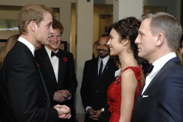 Titel: James Bond 007 - Ein Quantum Trost  Namen: Daniel Craig, Prince William Windsor, Olga Kurylenko