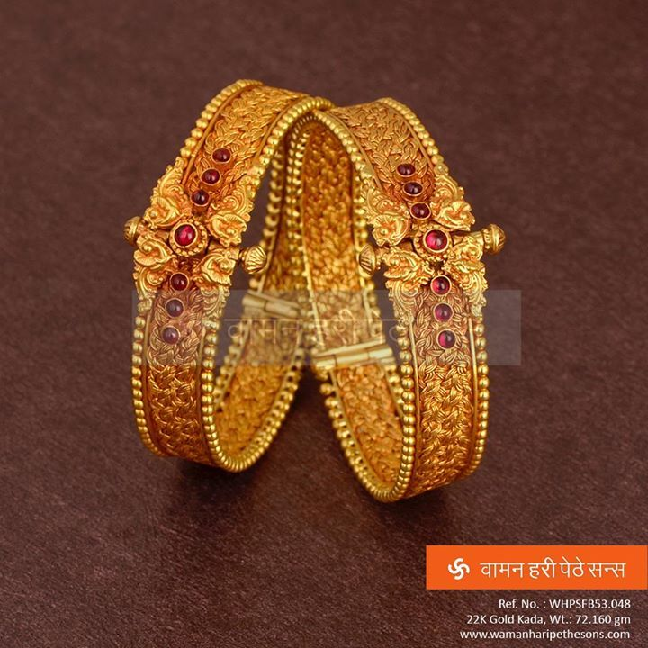 #Beautifully #designed and #traditionally #encrafted #designer #gold #kada from our latest collection.