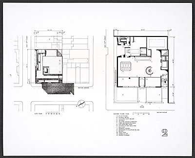 photograph of plans for the ground floor of the whitney