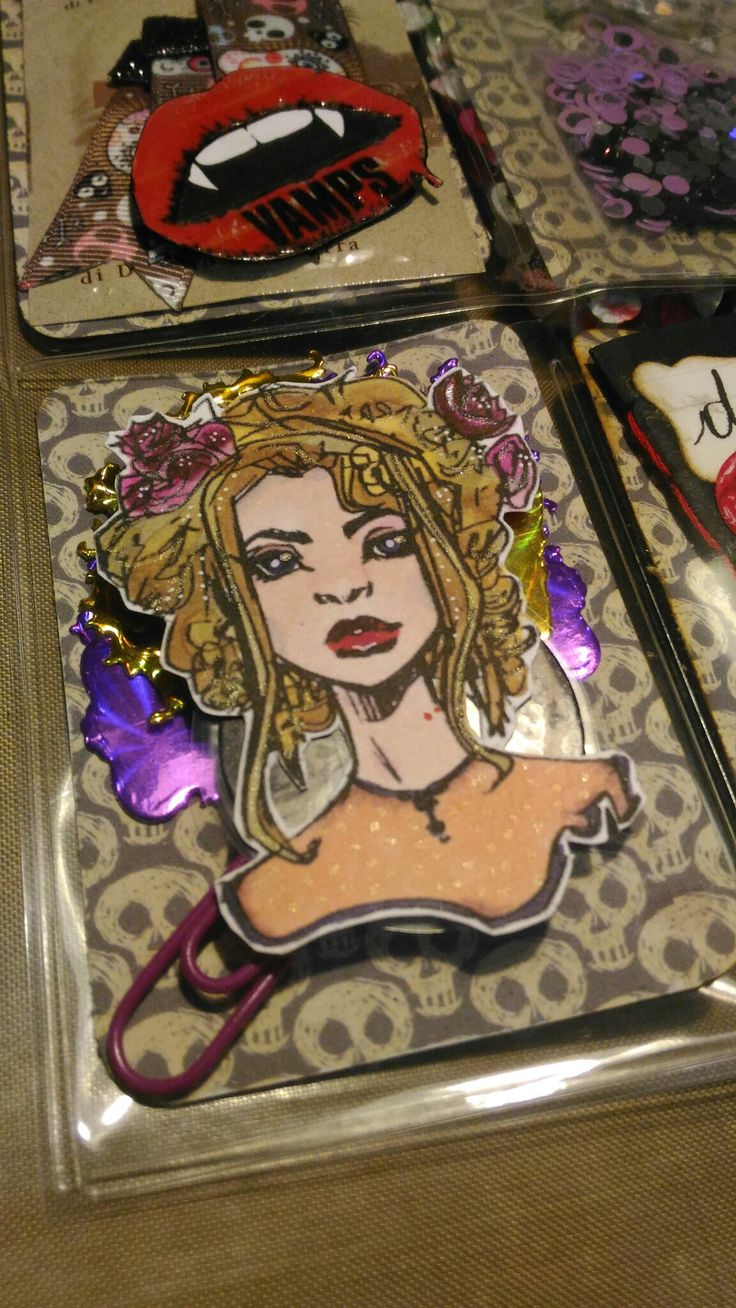 Particolarr PL.vampiri, dama colorata con COPIC