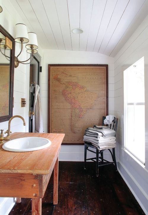 Hang A Map In The Restroom. So Basically I Like Maps And I Want Them