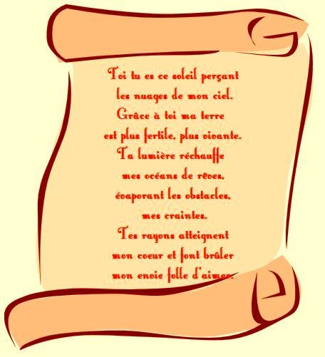 Poeme court rencontre amoureuse