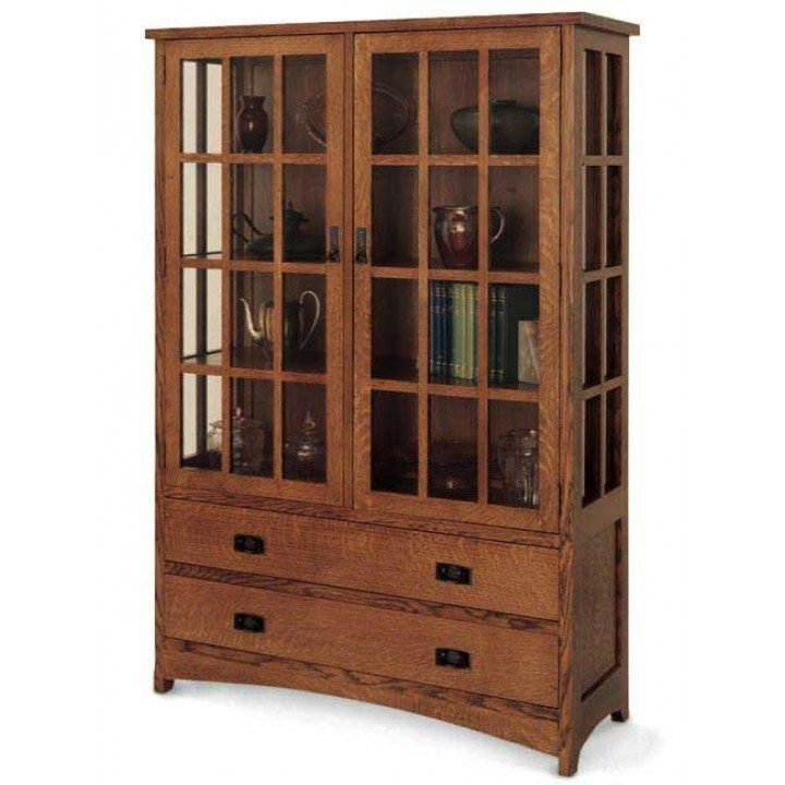 superb china hutch plans #6: Arts and Crafts Hutch Downloadable Plan