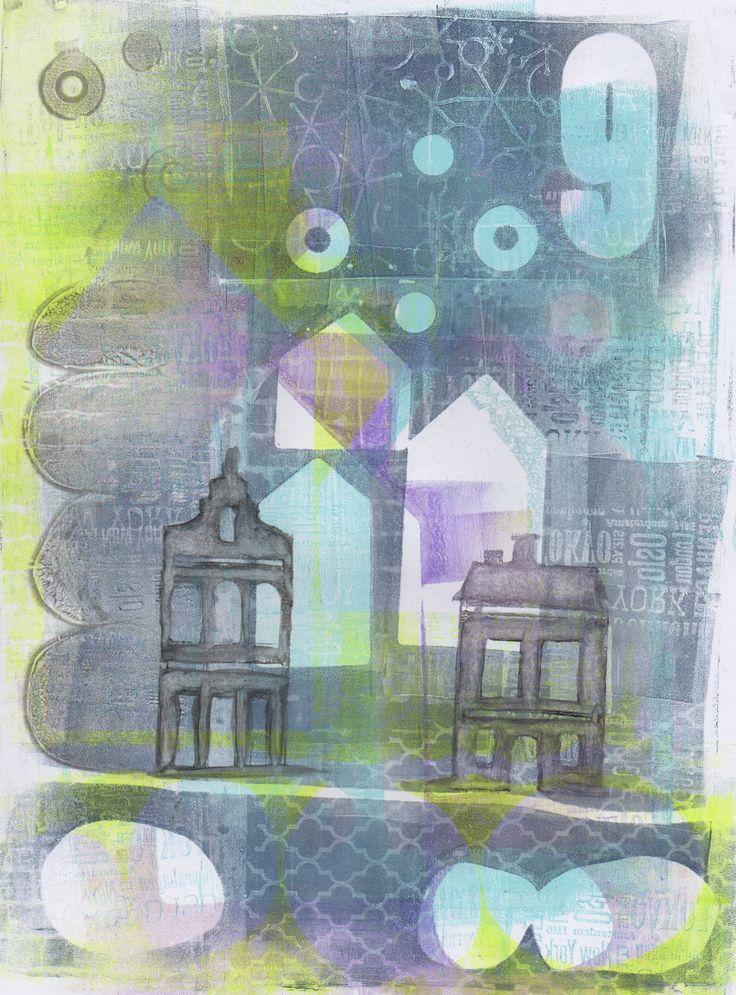 Gelliprinting by Sofia Windjusveen.