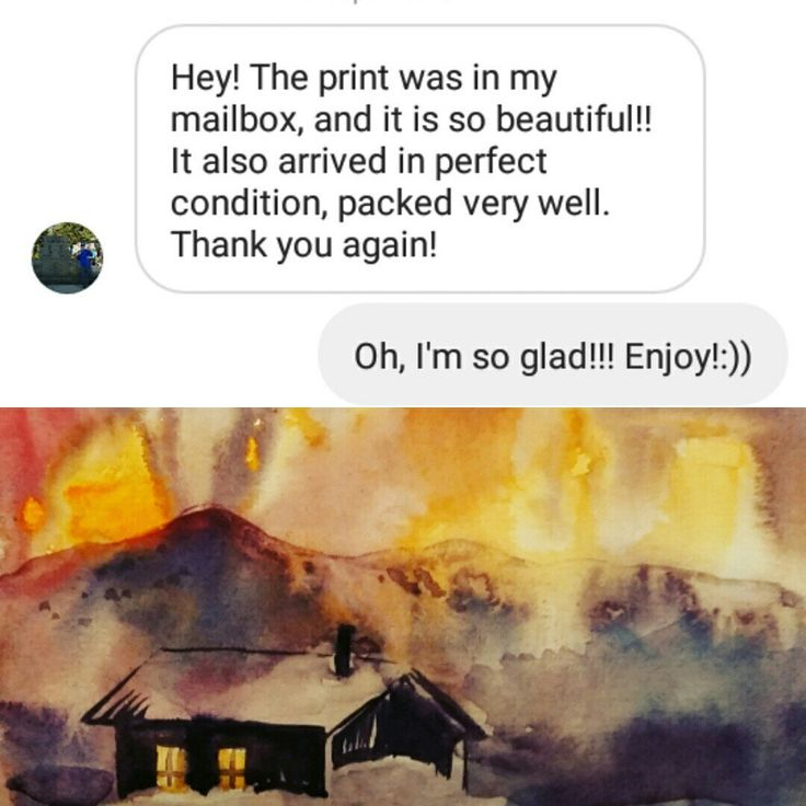 One more review about my print that was ordered in Instagram. Thank you very much!!!