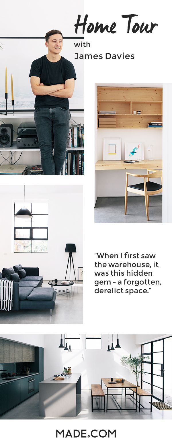 James Davies converted a Stoke Newington warehouse into a beautiful industrial inspired home