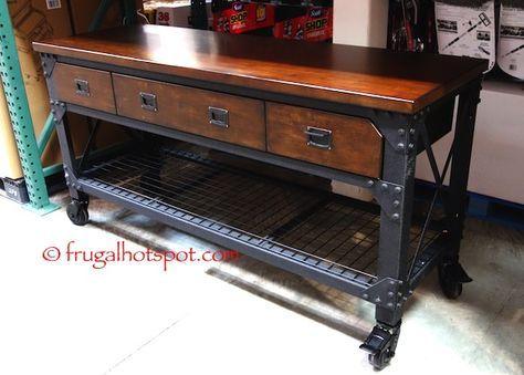 costco kitchen island remodeling williamsburg va whalen industrial metal wood workbench frugalhotspot