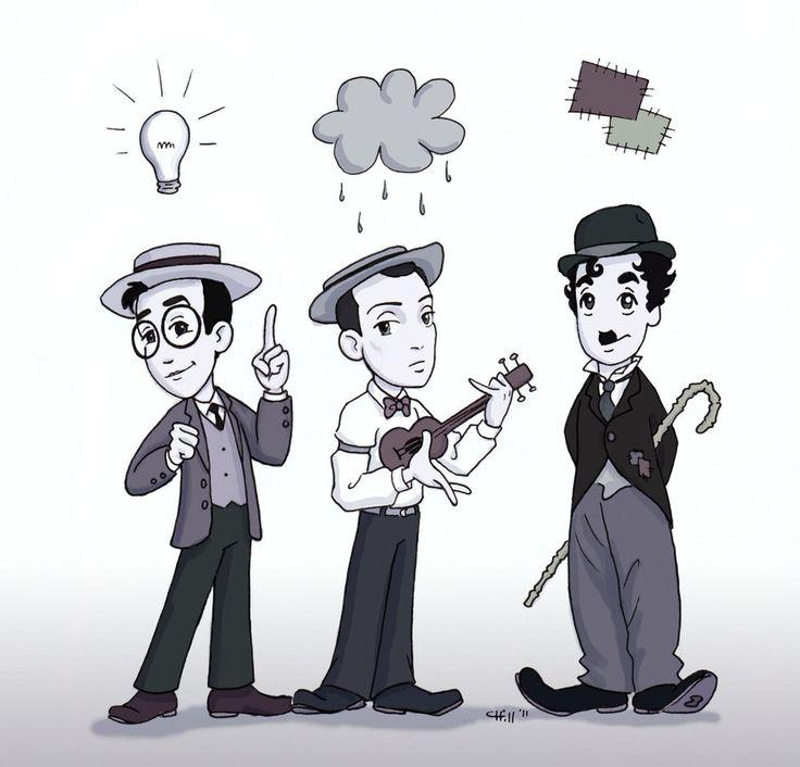 Harold Lloyd, Buster Keaton, Charlie Chaplin. Adorable!