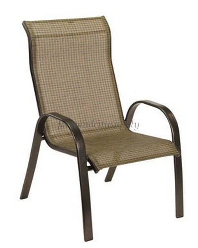 Living Accents Set Of 4 Stackable Metropolitan Patio Outdoor Sling Dining  Chairs