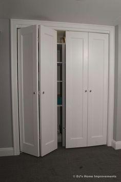 Shaker style bi-fold closet doors